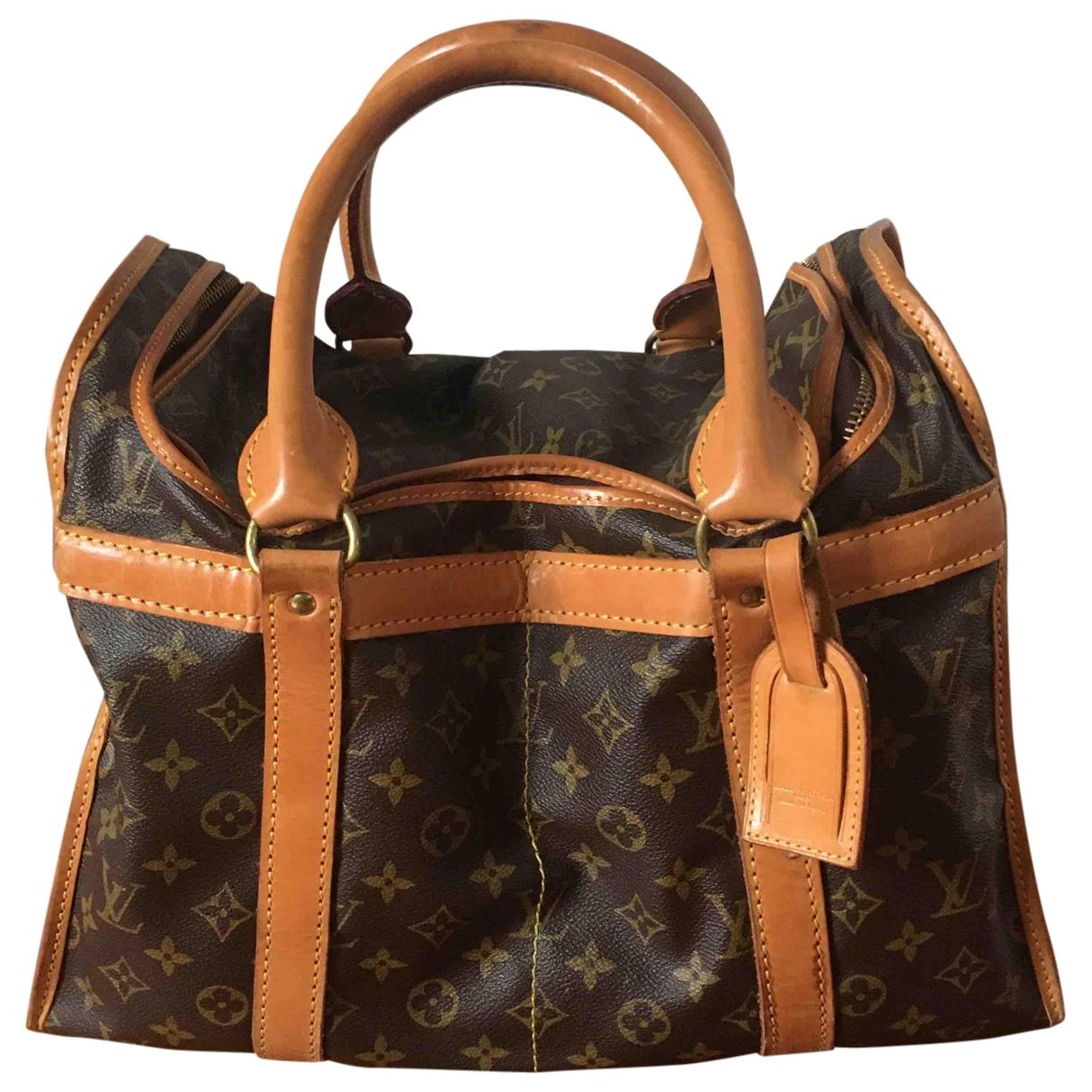 Louis Vuitton \N Camel Cloth bag for Men \N