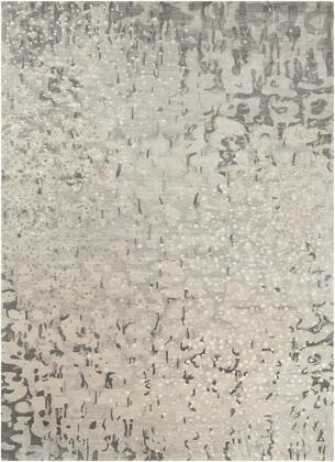 Watercolor WAT-5011 9 x 13 Rectangle Modern Rugs in Charcoal  Light Gray
