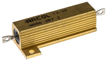 Arcol HS50 Series Aluminium Housed Axial Wire Wound Panel Mount Resistor, 2.7Ω ±5% 50W (20)