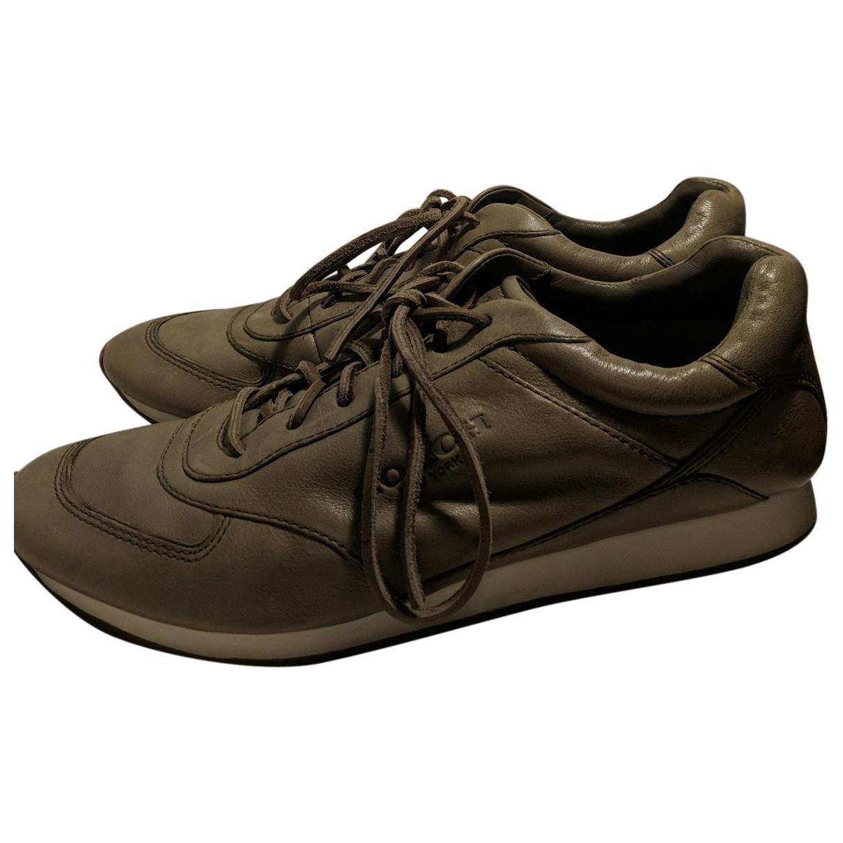 Coach \N Sneakers in  Beige Leder