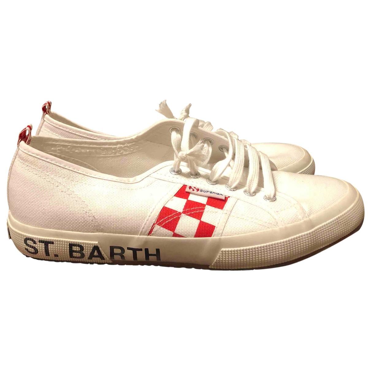 Mc2 Saint Barth \N Sneakers in  Weiss Leinen