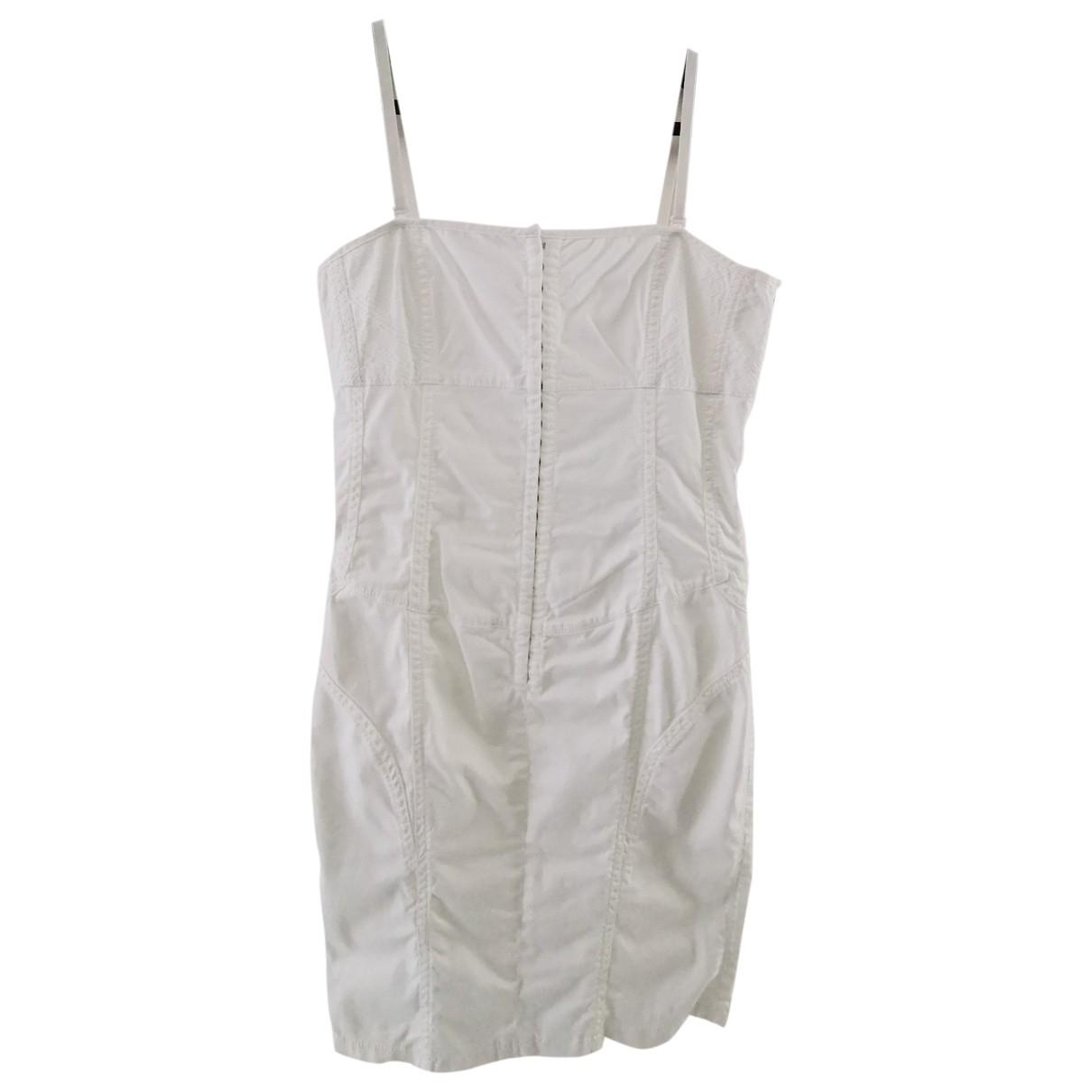 Guess \N White Cotton - elasthane dress for Women XL International