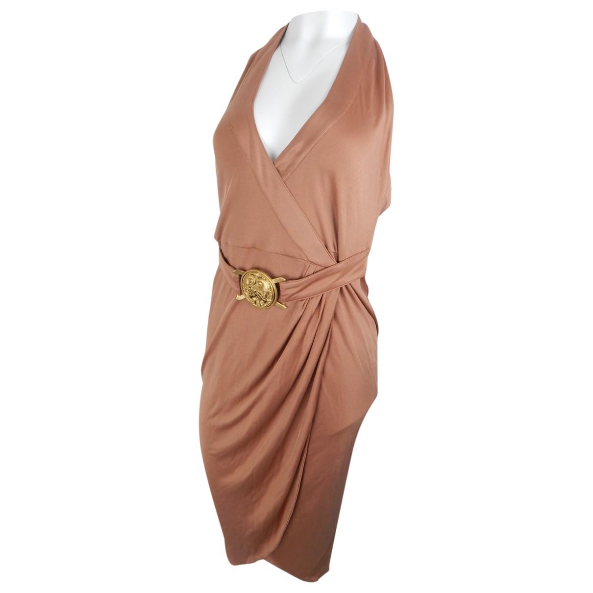 Versace \N Kleid in  Braun Viskose