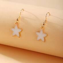 Pendientes largos con estrella