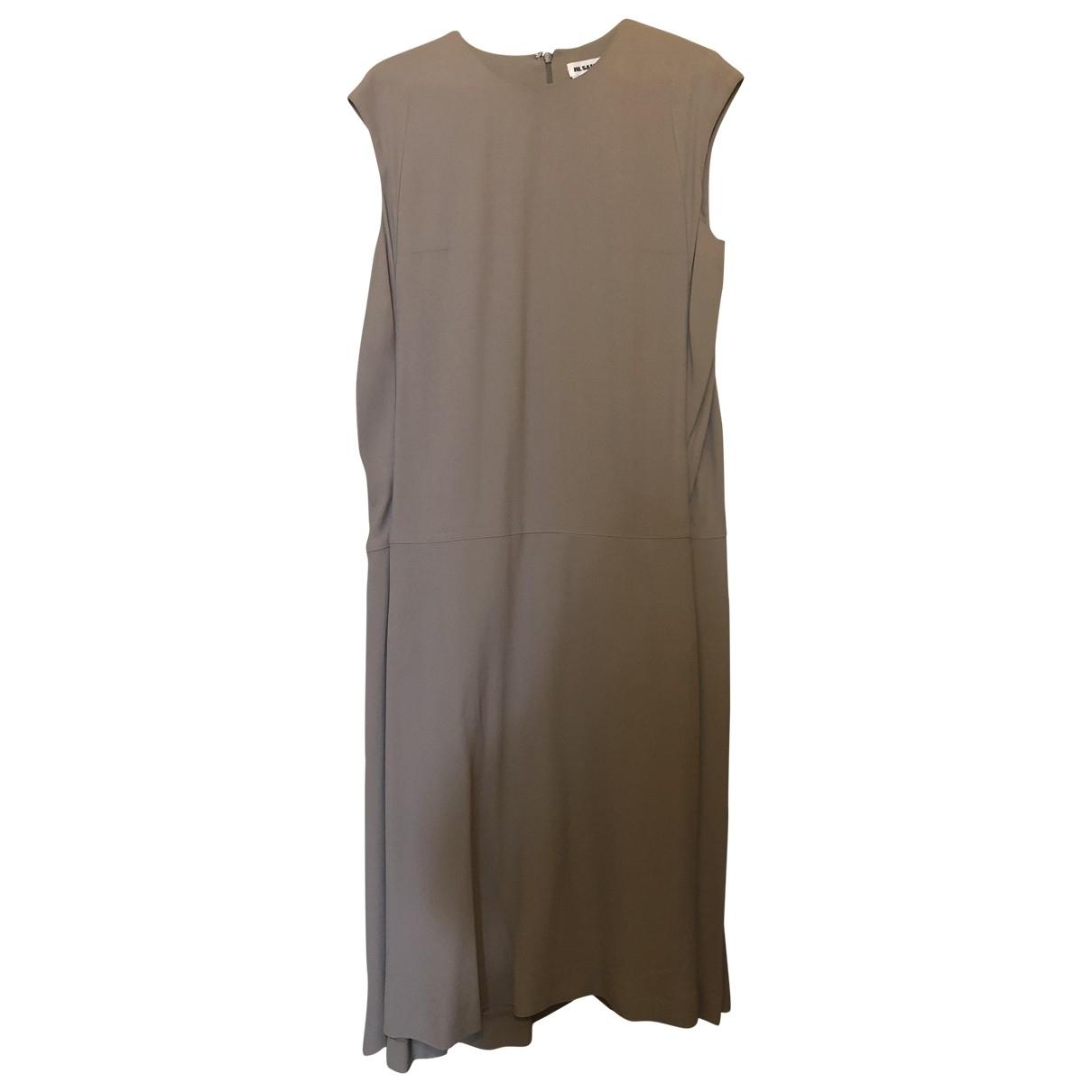 Jil Sander \N Kleid in  Grau Seide