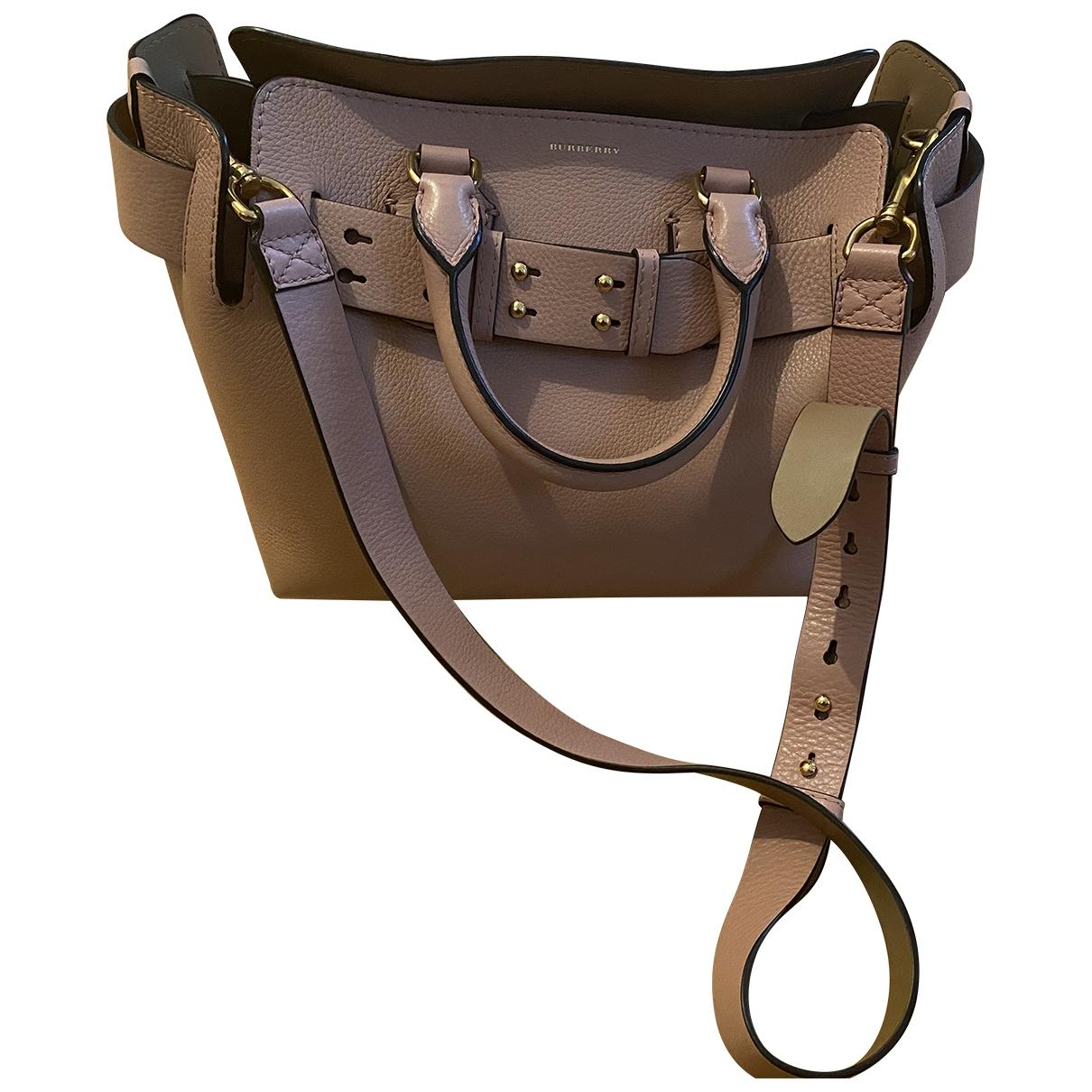 Burberry The Belt Pink Leather handbag for Women \N