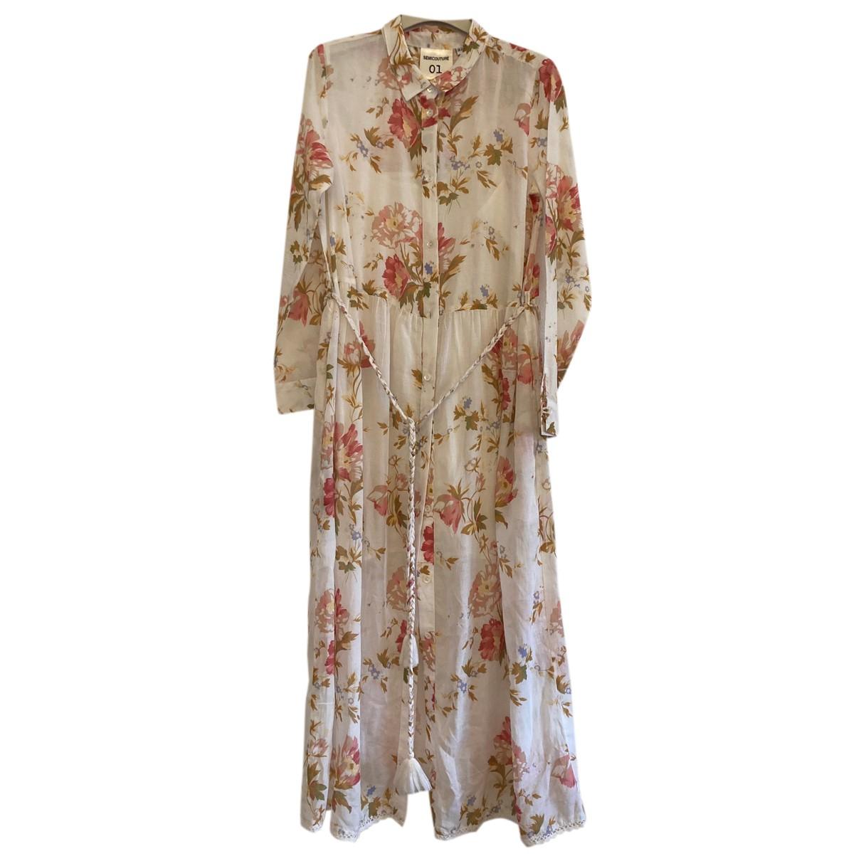 Semicouture - Robe   pour femme en coton - blanc