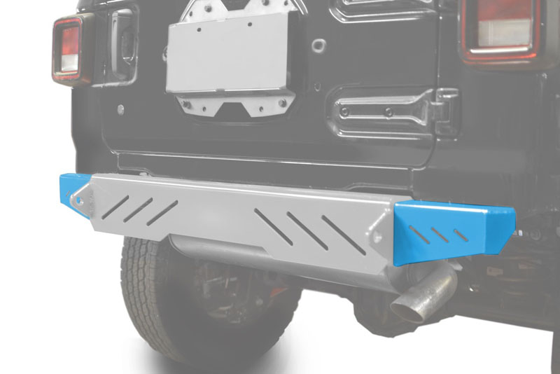 Steinjager J0048593 Bumpers Wrangler JL 2018 to Present Bumper End Caps, Rear Cap Style Playboy Blue