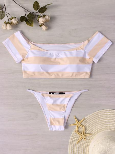 Yoins White Sexy Off Shoulder Bikini Set