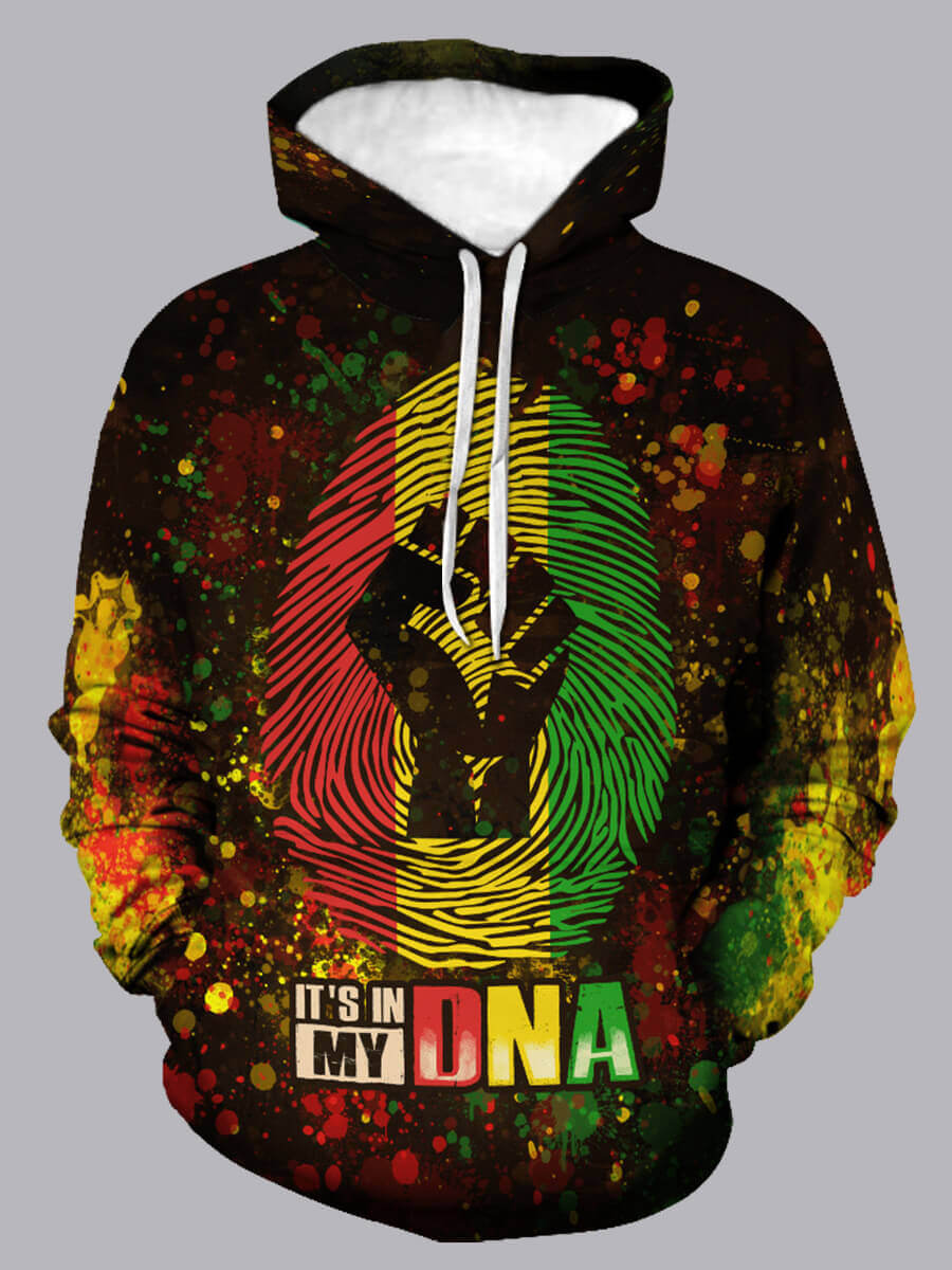 LW Lovely CasualHooded Collar Letter Print Multicolor Hoodie