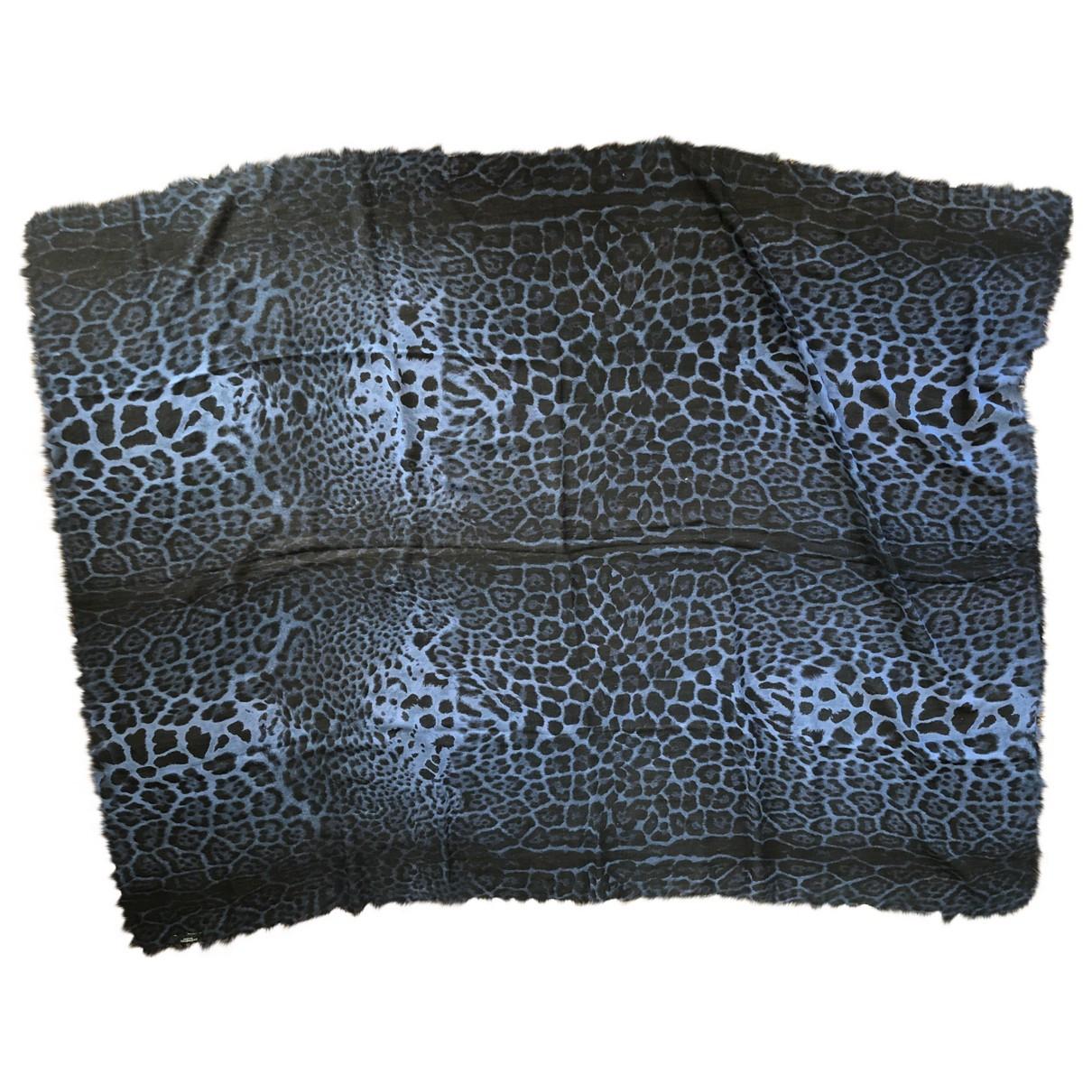 Yves Saint Laurent - Foulard   pour femme en laine - bleu
