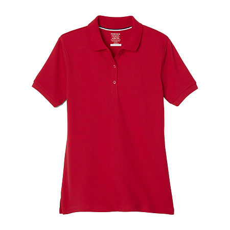 French Toast Little & Big Girls Short Sleeve Polo Shirt, X-large , Red