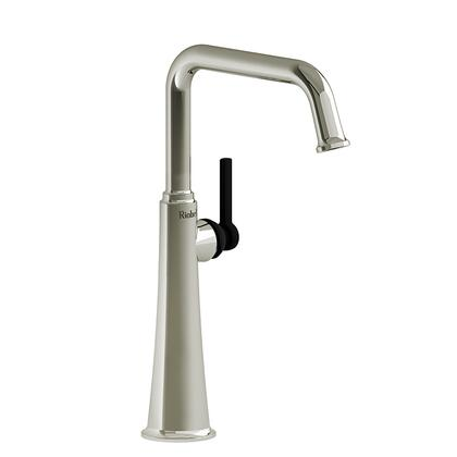 Momenti MMSQL01LPNBK Single Hole Lavatory Faucet with L Lever Handle 1.5 GPM  in Polished