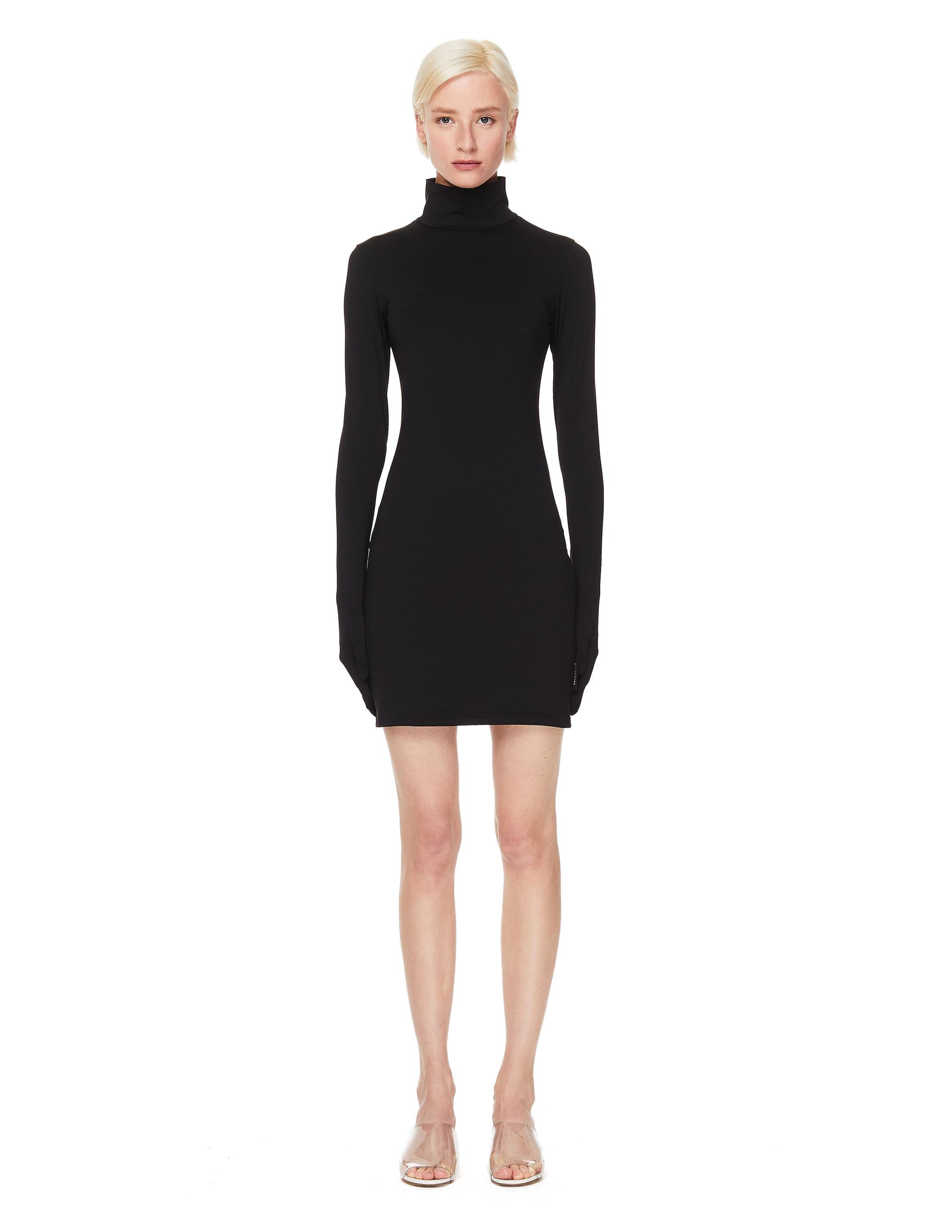 Vetements Black Mini Dress With Gloves