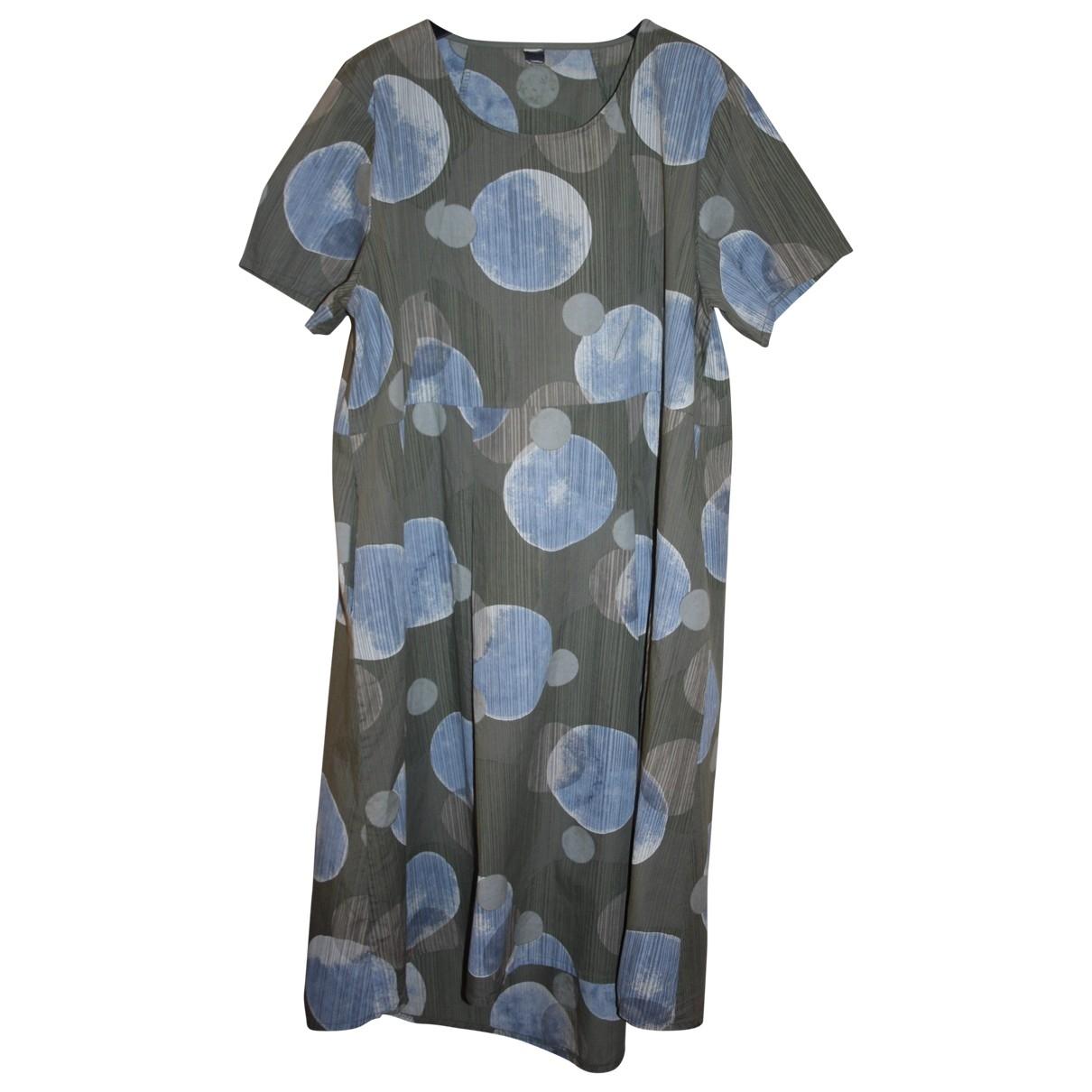 Non Signe / Unsigned Oversize Kleid in  Gruen Baumwolle