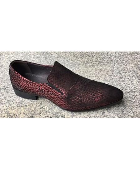 Mens Burgundy Slip On Shoe