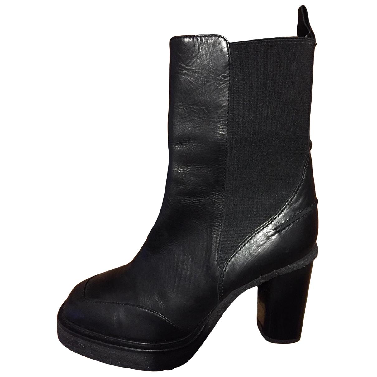 Carven - Boots   pour femme en cuir - noir