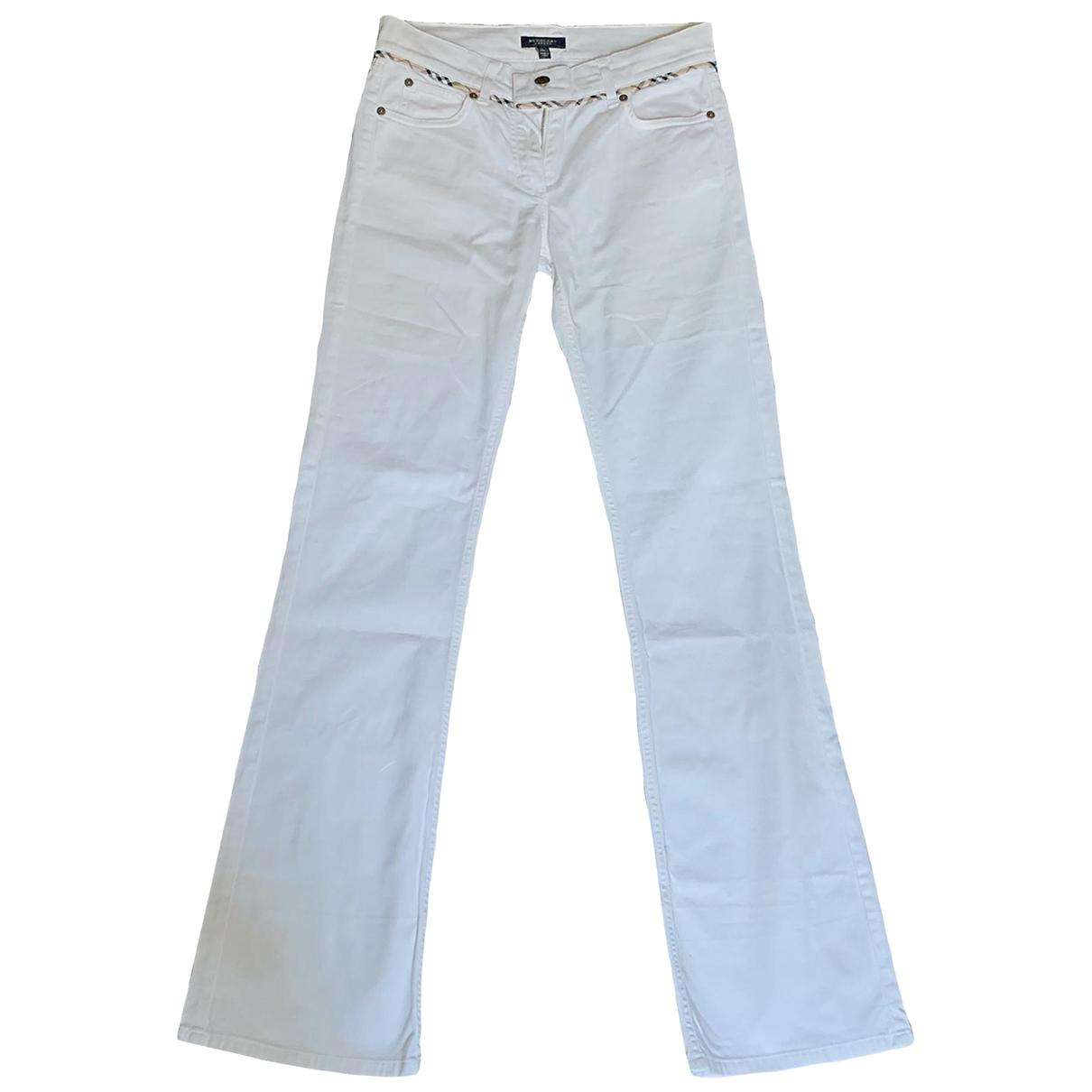 Burberry \N White Cotton - elasthane Jeans for Women 24 US