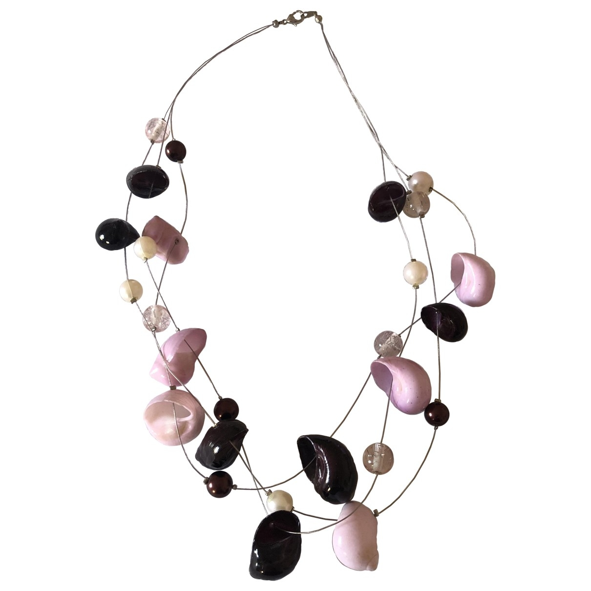 Non Signé / Unsigned Motifs Coquillages Pink Pearls necklace for Women \N