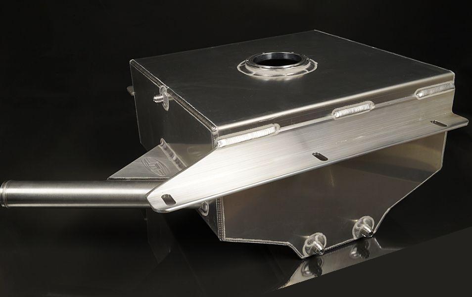 JM Fabrications 1G-FUELCELL-06 1G AWD DSM aluminum 10 gallon fuel cell -8 AN return Single 8AN sump feed
