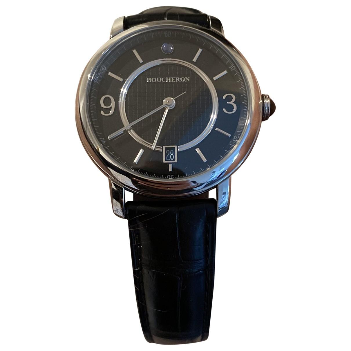 Boucheron Epure Black Steel watch for Men \N