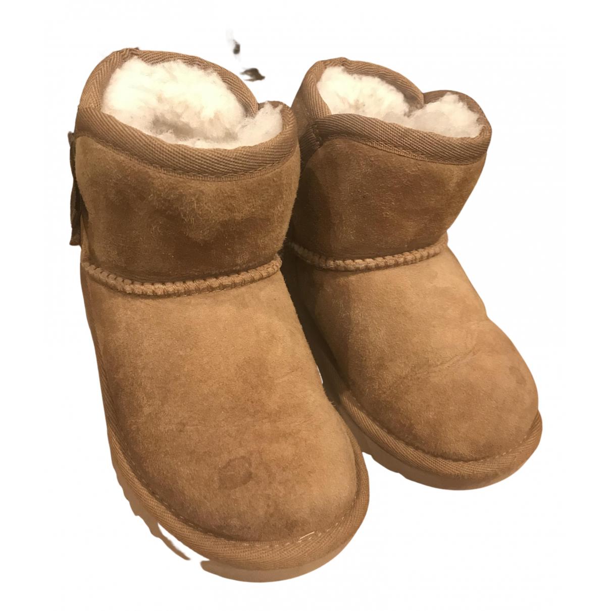 Ugg - Bottes.Bottines   pour enfant en cuir - camel