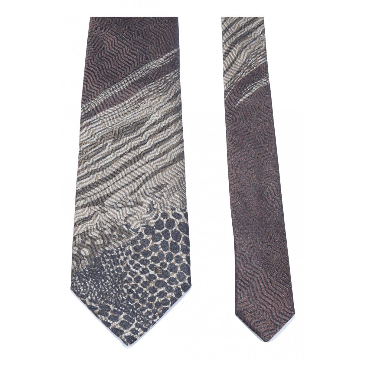 Roberto Cavalli \N Krawatten in  Braun Seide