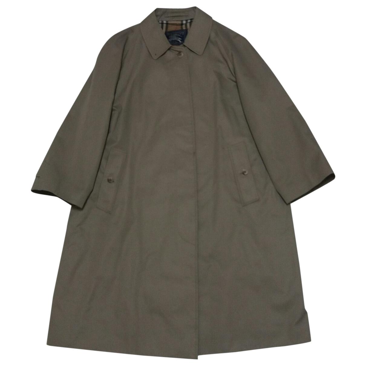 Burberry \N Beige Cotton coat for Women 18-20 UK