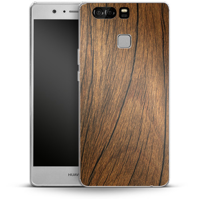 Huawei P9 Silikon Handyhuelle - Wood von caseable Designs