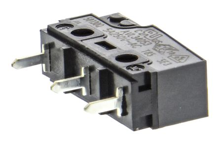 Panasonic SPDT Pin Plunger Microswitch, 5 A @ 250 V ac
