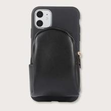 1 Stueck einfarbige iPhone Etui mit Reissverschluss