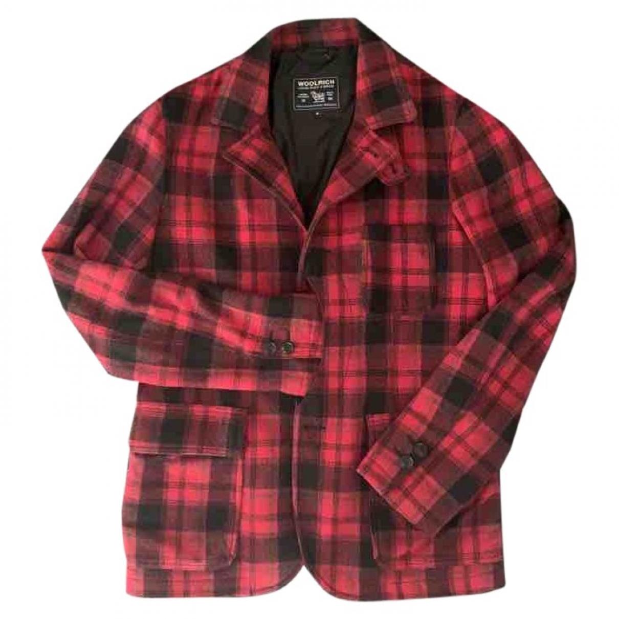 Woolrich - Vestes.Blousons   pour homme en laine - rouge