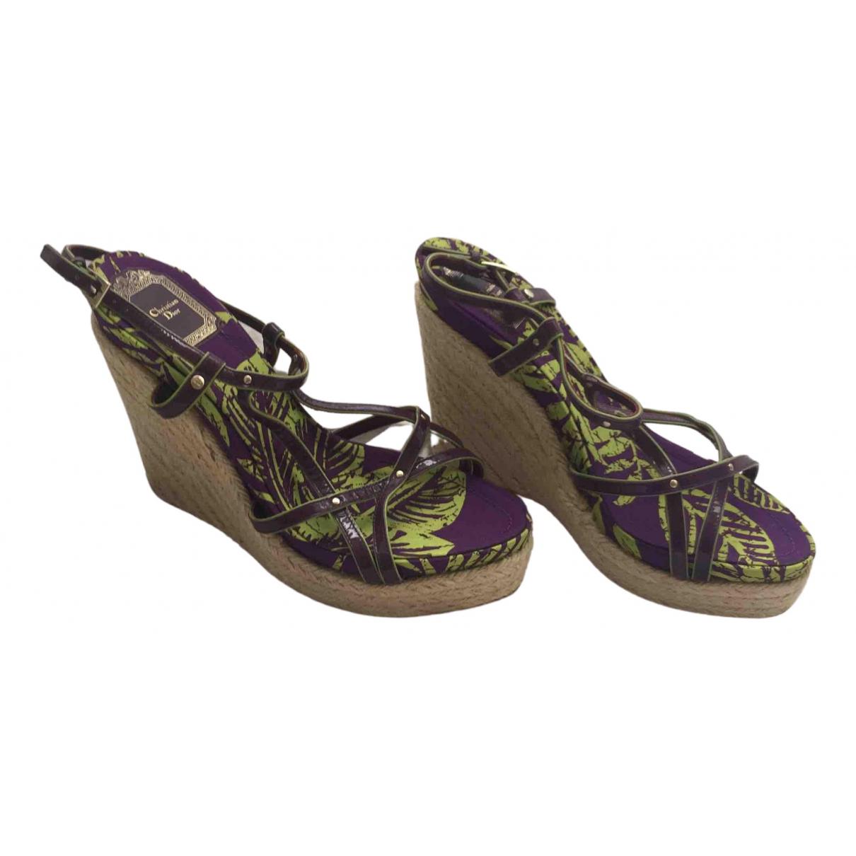 Christian Dior - Sandales   pour femme en cuir verni - violet
