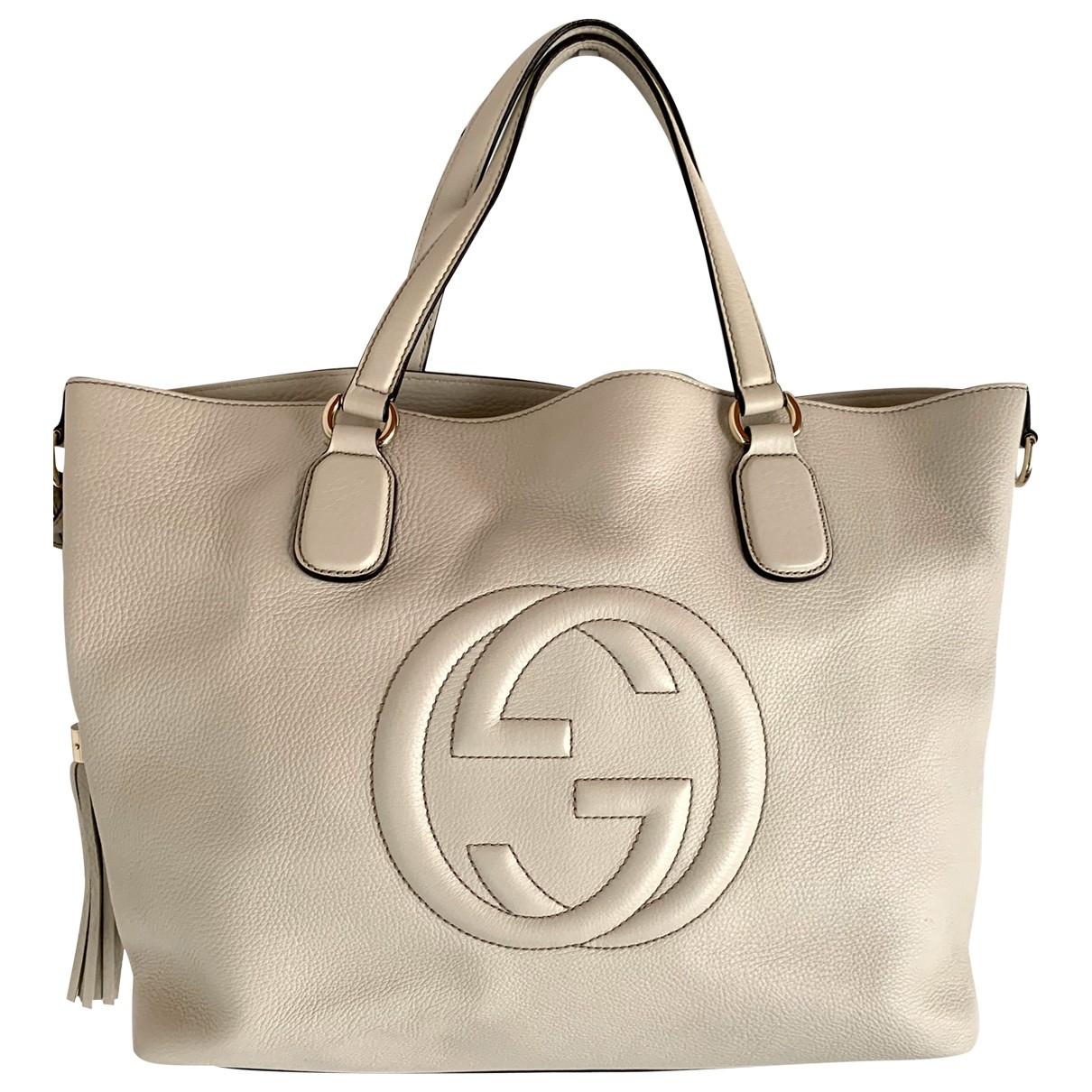 Gucci - Sac a main Soho pour femme en cuir - blanc