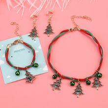 Kleinkind Maedchen Weihnachten Halskette & Armband & Ohrringe