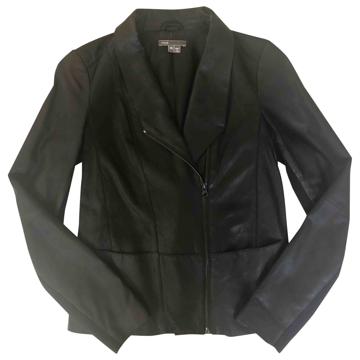 Vince \N Black Leather jacket for Women XS International