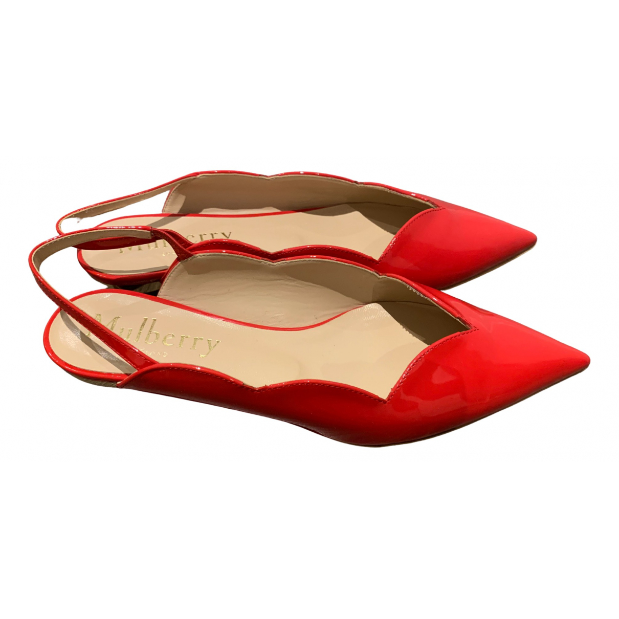 Mulberry \N Red Patent leather Sandals for Women 37 EU