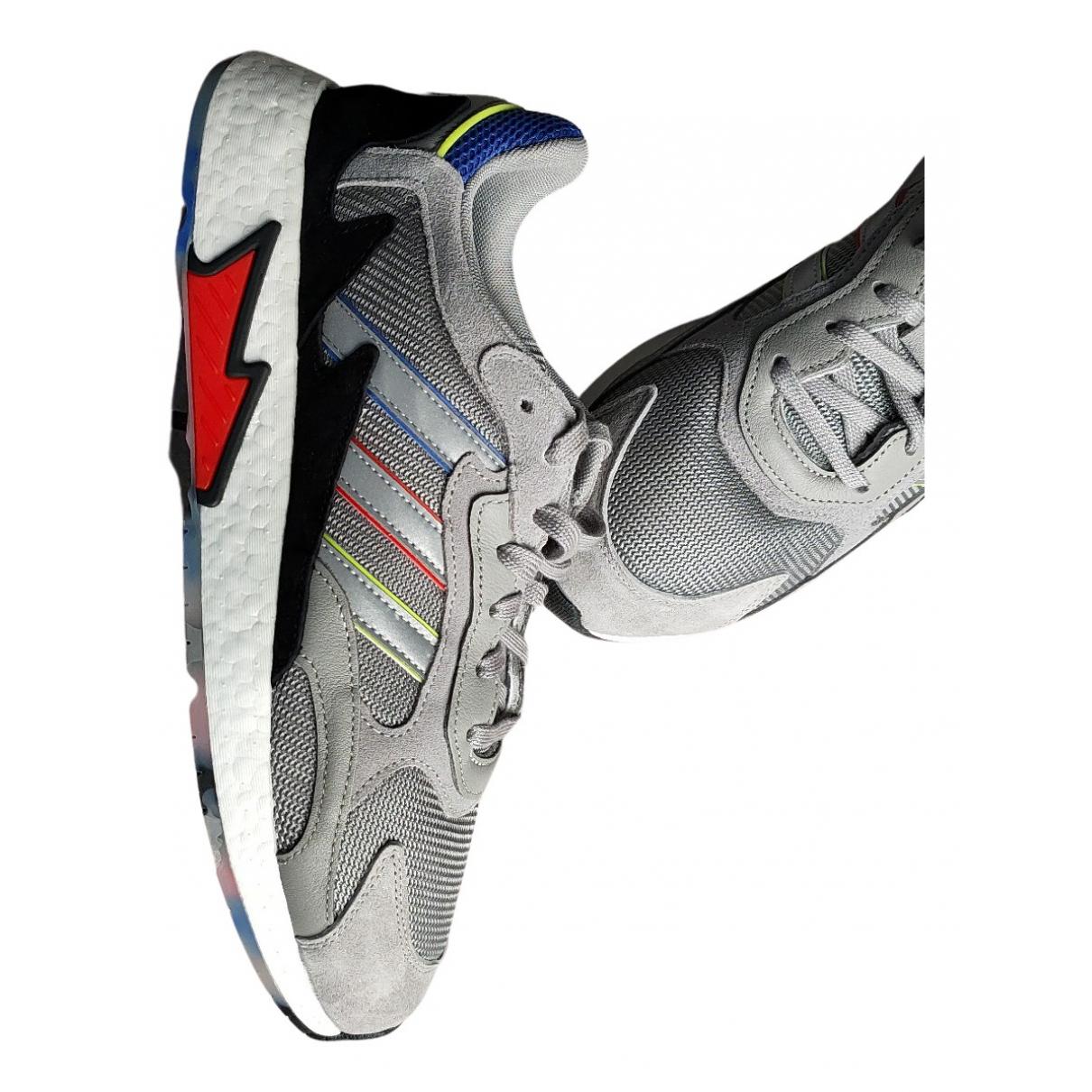Adidas \N Sneakers in  Grau Veloursleder