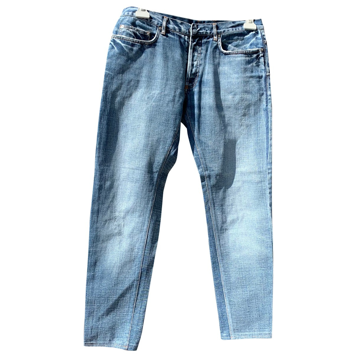 Dior Homme N Blue Cotton Jeans for Men 36 US