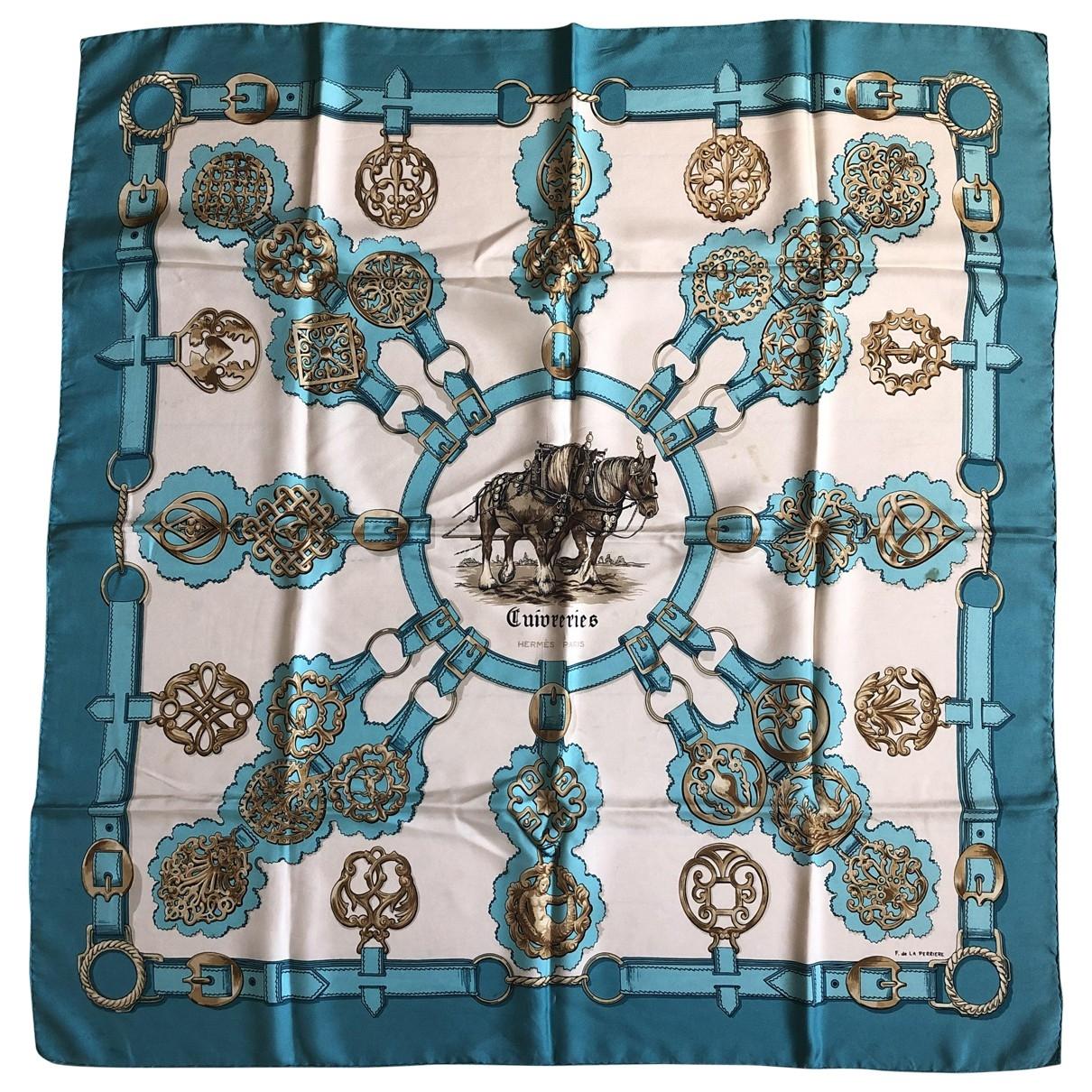 Hermès Carré Géant silk 140 Blue Silk scarf for Women \N