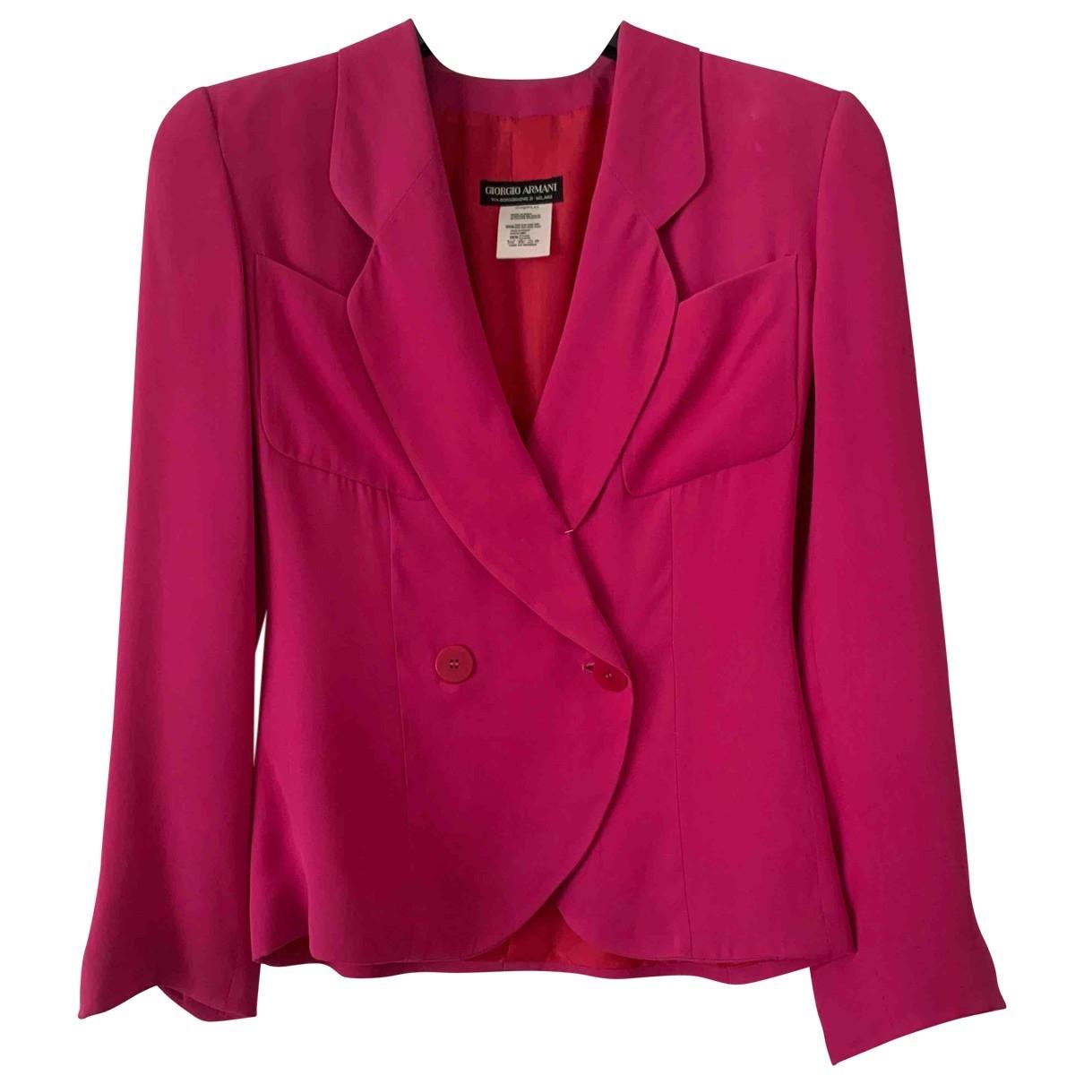 Giorgio Armani - Veste   pour femme en soie - rose