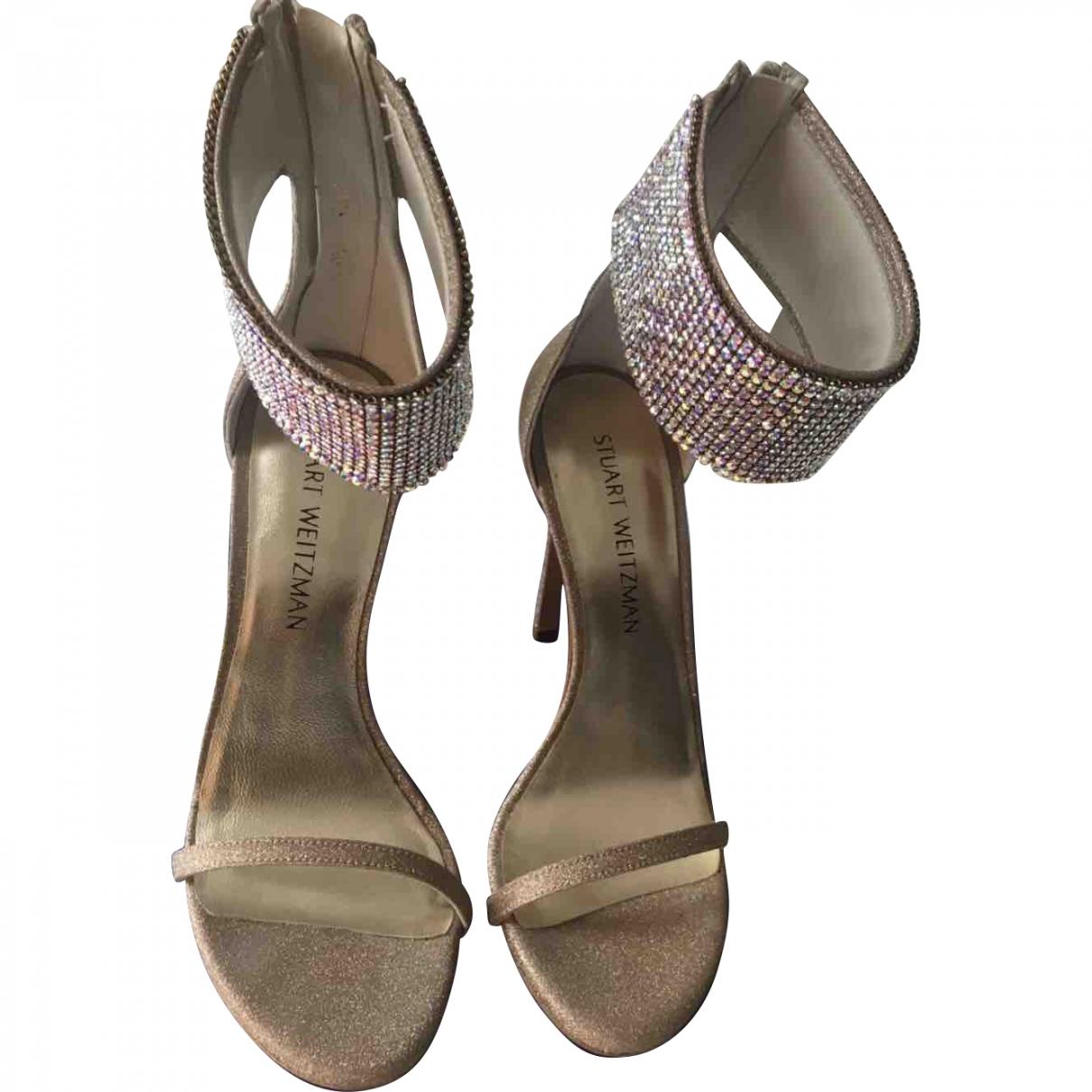 Stuart Weitzman \N Multicolour Glitter Sandals for Women 5.5 UK