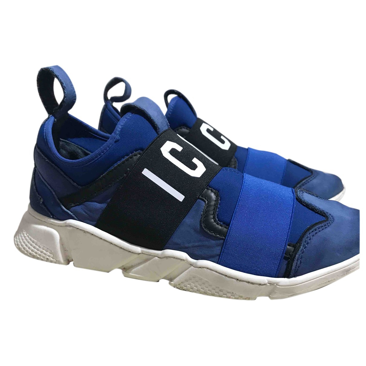 Dsquared2 \N Sneakers in  Blau Leinen