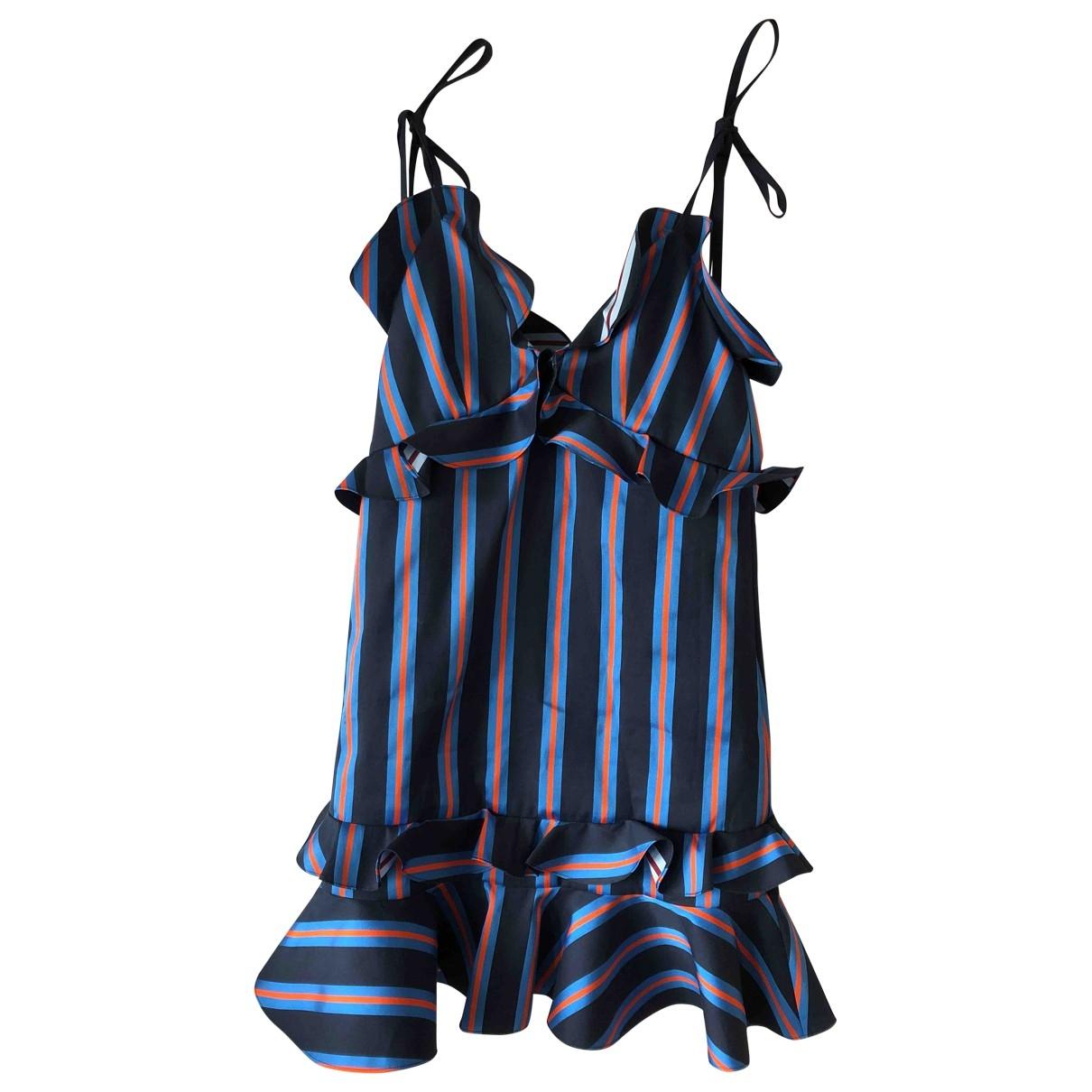 Kenzo \N Kleid in  Marine Baumwolle