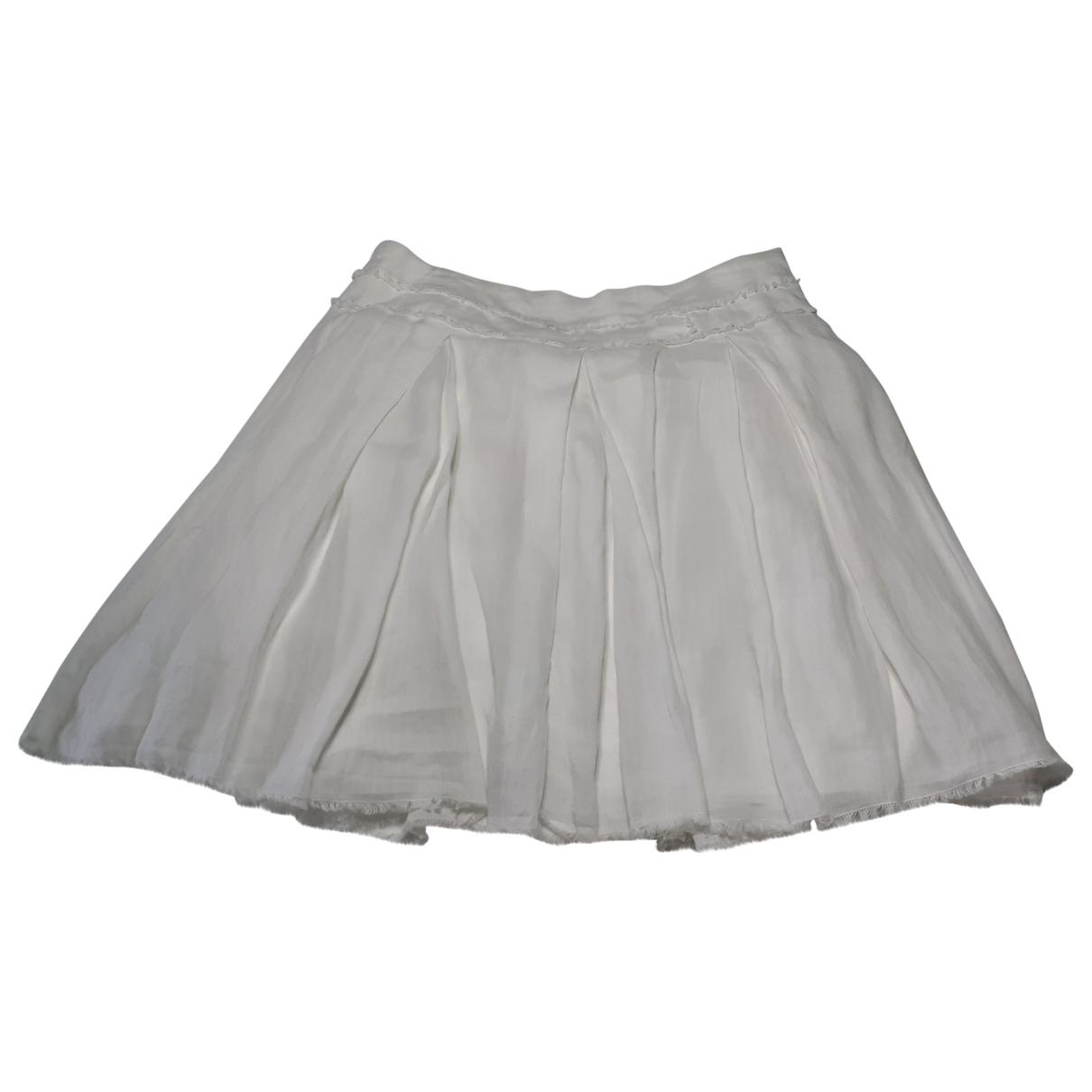 Adolfo Dominguez - Jupe   pour femme en coton - blanc