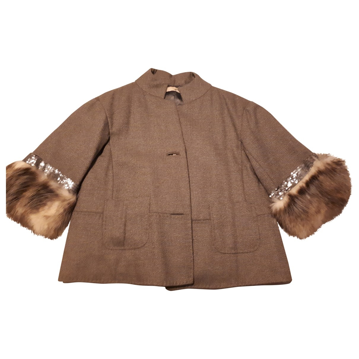 Non Signé / Unsigned \N Brown Fur jacket for Women 46 IT