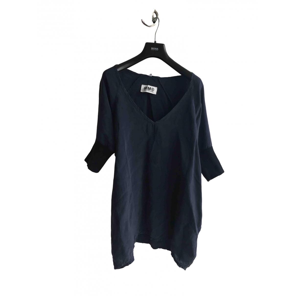 Mm6 \N Navy Silk  top for Women M International
