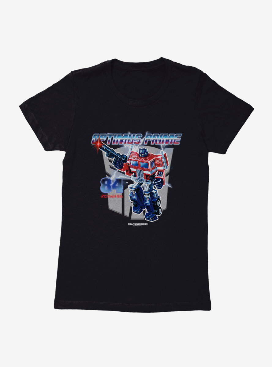 Transformers Optimus Prime The Right To Freedom Womens T-Shirt