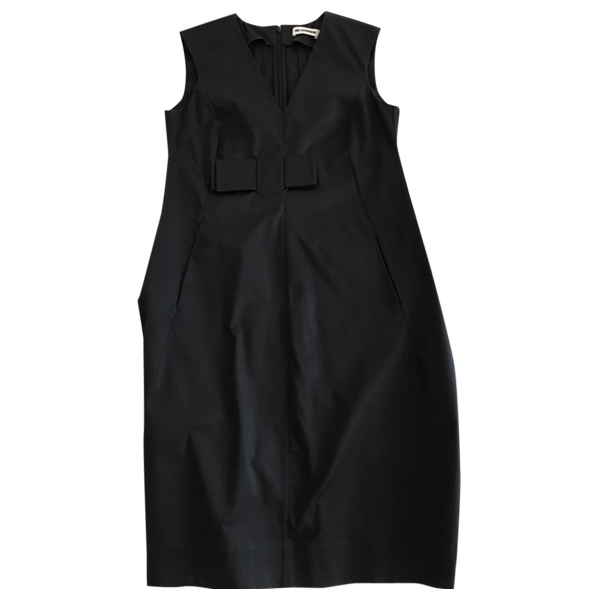 Jil Sander \N Kleid in  Schwarz Baumwolle - Elasthan