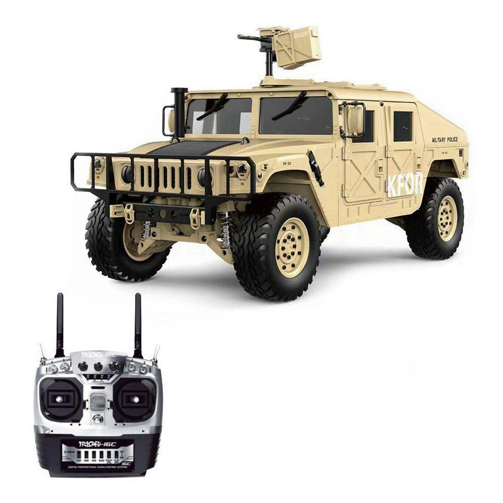 HG P408 Light Sound Function Version 1/10 2.4G 4WD U.S.4X4 Military Vehicle Truck RC Car Without Battery Charger RTR - Khaki